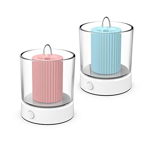 LED flameless Candles Rechargeable,Fantasy Candle Flame tealight,Couple Candlelight Dinner Atmosphere Light,Battery-Operated led Pillar Candle for Christmas Holidays