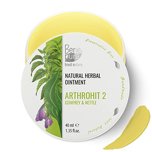 BenePura ArthroHit 2 - Natural Herbal Ointment 1.35 fl.oz 40ml - Comfrey & Nettle - Relieves Pain in The Joints Tendons and Muscles - Acts Favorably on Body Movement - Regenerates Cartilage Cells