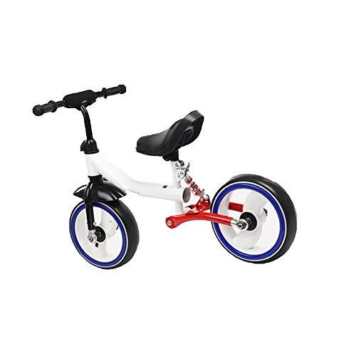 ZDAMN Kids'Balance Bike Baby Balance Fiets zonder pedaal Twee wielen Balance Auto met knipperend wiel instelbaar stuur en zitting Kinderspeelgoed Lichte fiets voor jongens en meisjes
