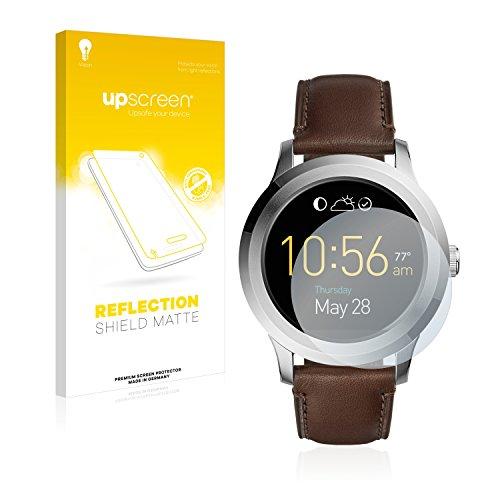 upscreen Entspiegelungs-Schutzfolie kompatibel mit Fossil Q Founder 2.0 – Anti-Reflex Displayschutz-Folie Matt