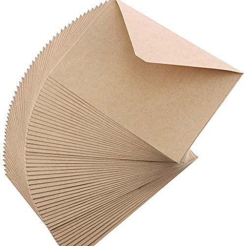 2 Stück Packpapier-Umschlag-Dreieck Seal, C6 Briefumschläge Stark und Praktische -16,2 * 11.5cm (Color : Brown)