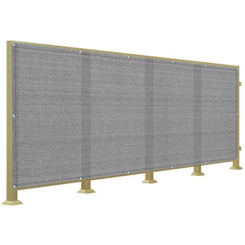 WUZMING Pantalla para Balcón Protección Resistencia Al Clima Parabrisas Protección UV HDPE Patio Balcón Cubiertas On Ojales, Altura 1.1m/1.2m (Color : Gray, Size : 1.1x10m)