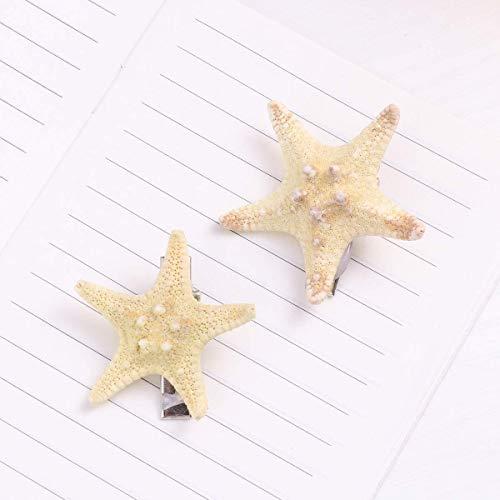 FRCOLOR 2pcs Starfish Hair Clip Handmade Natural Sea Star, Random, Size No Size