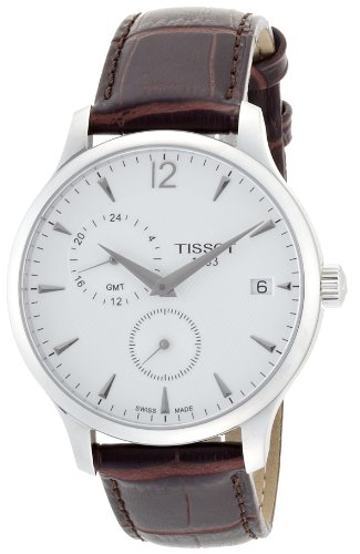 Tissot Tradition GMT Leather Mens Watch - Brown