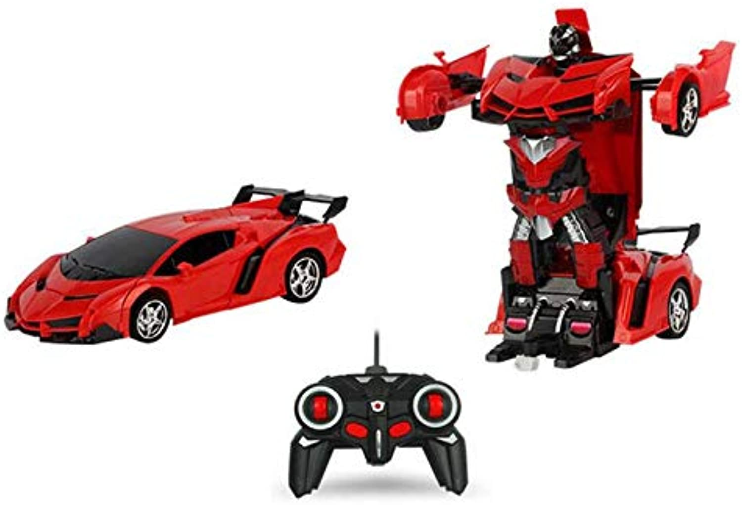 Generic 1 18 Transformer Wireless Remote Control Car Deformation Robot RC Kids Toy Red