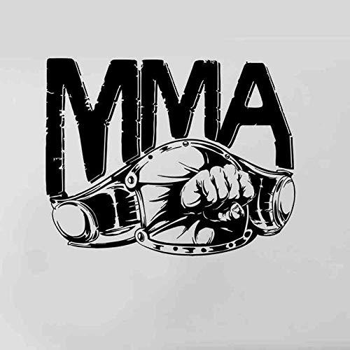 Boxeo Sports Logo MMA Gold belt Boxer Kickboxing Free Combat GYM Fitness Etiqueta de la pared Vinilo Calcomanía del coche Dormitorio Sala de estar Club de culturismo Decoración para el hogar Mura