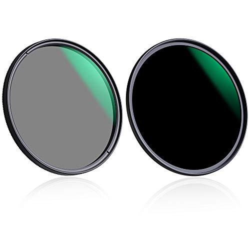 K&F Concept Filter Set 55mm CPL Filter+ND1000 Filterset MRC Super Slim Polfilter und Neutral Dichte Graufilter