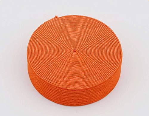 18 mm breed, 3 meter lang, elastisch lint voor naaien en knutselen - Spoel van elastische platte band voor kleding - Rekbaar koord voor rokken en broeksband-Oranje-3Meter-2cm