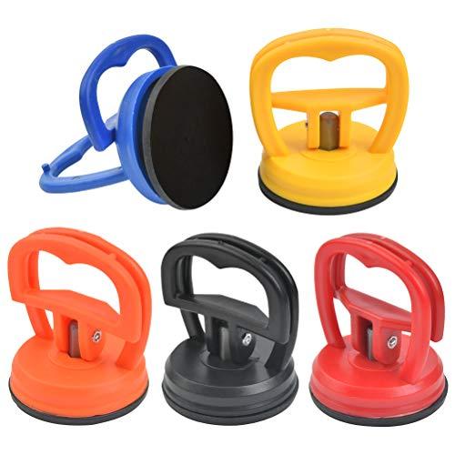 POKIENE Ventosa Carrozzeria 5 Pezzi, Ventose per Riparazione Plastica, Ventosa Auto, Mini Estrattore 55 MM, Forza di Aspirazione 15 kg; per Il Telefono di Riparazione di Elettronica dell'automobile