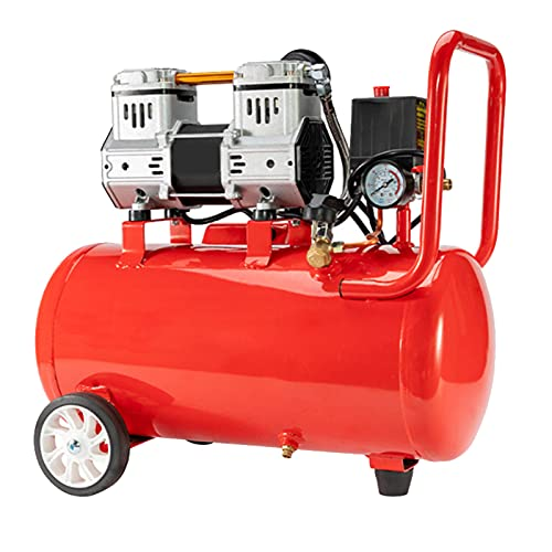 WUK Compresor de Aire de 980W Bomba de Aire portátil 8 / 30L Sin Aceite Silencioso 68dB para reparación del hogar Herramientas neumáticas para inflar neumáticos industriales