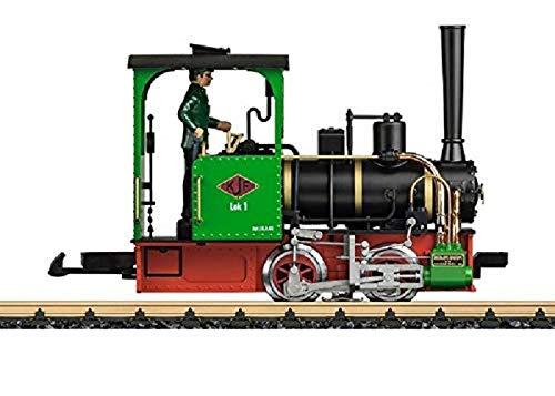 LGB 024141 Gartenbahn Feldbahnlokomotive KJF Nr. 1 – L24141, detaillierte und originalgetreue Feldbahnlok, Outdoor-Eisenbahn, Spur G, Schmalspur