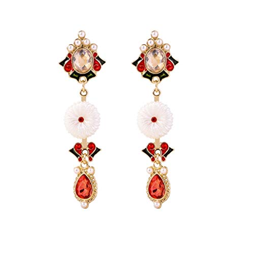 Review Tanwpn 1Pair Women Bohemian National Wind Retro Rhinestone Ear Stud Earrings Jewelry Eardrop ...