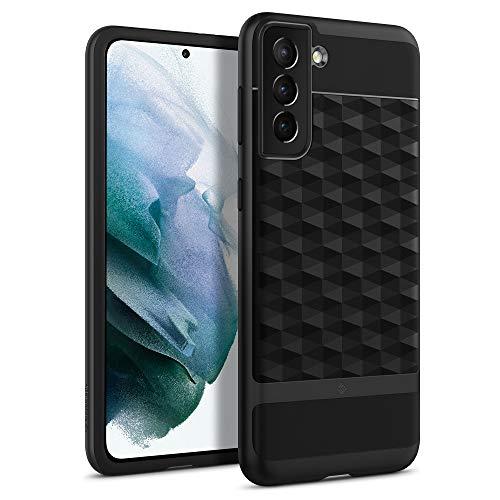 Caseology Parallax Hülle Kompatibel mit Samsung Galaxy S21 Plus - Matte Black
