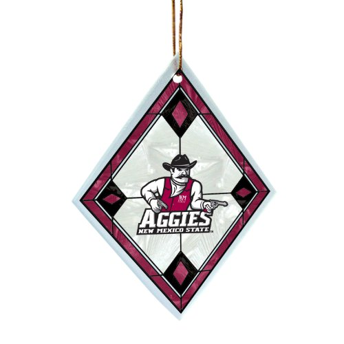NCAA New Mexico State Aggies Art Glass Ornament