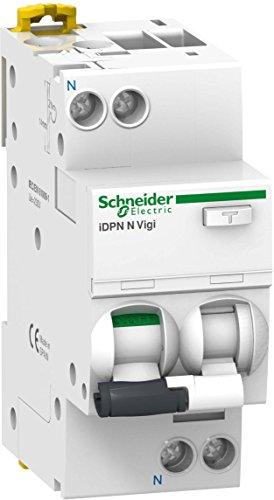 Schneider Electric A9D33616 Interruptor Diferencial Idpn N Vigi, 1P+N, 16A, 30Ma Clase...