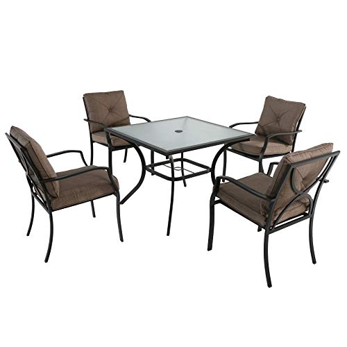 Hanover PALMBAYDN5PC-TAN Palm Bay 5-Piece Outdoor Dining Set