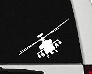 Maxx Graphixx Decal - Helicopter - Apache Helicopter Silhouette Vinyl Decal - Military Car Decal - H6 (8