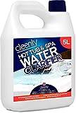 Cleenly Clarificateur d'eau pour jacuzzi et spa – 5 litres – Transforme l'eau trouble et terne – Améliore la performance et l'efficacité du filtre