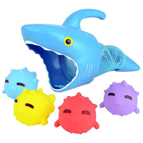 LIUCHANG Baby Bad Spielzeug, Swinming Shark Badewanne Floating Tier Pool Spielzeug Nette Wasser Spiele Sets for Kinder Jungen Mädchen Säuglingswasser Klassisches Spielzeug liuchang20