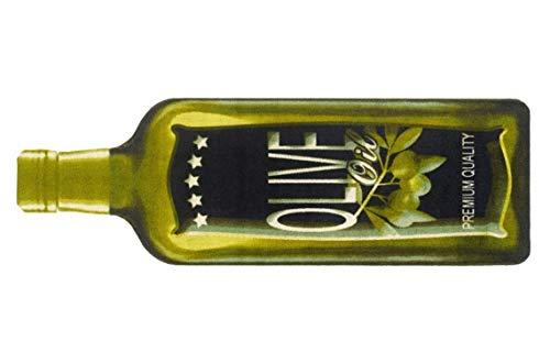 Bavaria-Home-Style-Collection Küchenteppich - 150 x 50 cm - Küchenläufer - 30 Verschiedene Motive - 30°C Waschbar - rutschfest - Küchen Teppiche (Oliven Flasche Grün)