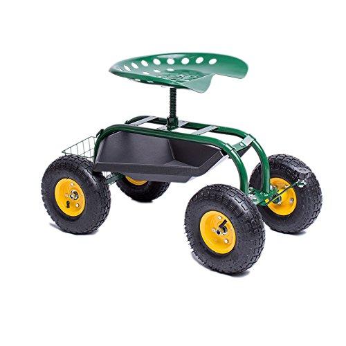 qoqo dogs trolley tuinwagen tuinhulp verrijdbare tuinstoel scooter rolstoel tuin Pötschke Tuinscooter groen