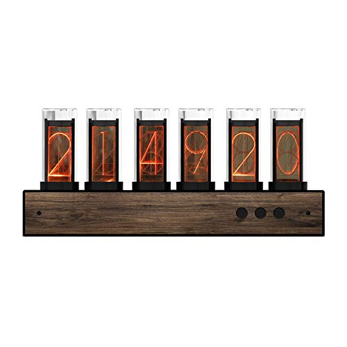 4YANG Digital Tube Clock, Creative Digital 10.000-farbig einstellbare LED Glow Tube Clock, Gixie Uhr mit magnetischem Design, Geeignet für Tube Clock Geschenke für Freunde und Kinder