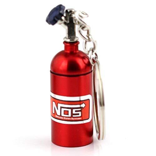 Aplogize Mini Botella a Prueba de Agua Portátil de Aluminio llavero Titular de la Píldora NOS Botella de Nitrógeno Ilavero Accesorios para Automóviles