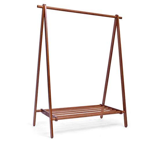 LEILEI Perchero de bambú para Trabajo Pesado,estantes de Almacenamiento portátiles Extra Grandes para Ropa para Habitaciones de Entrada,102x150cm (40x59inch)