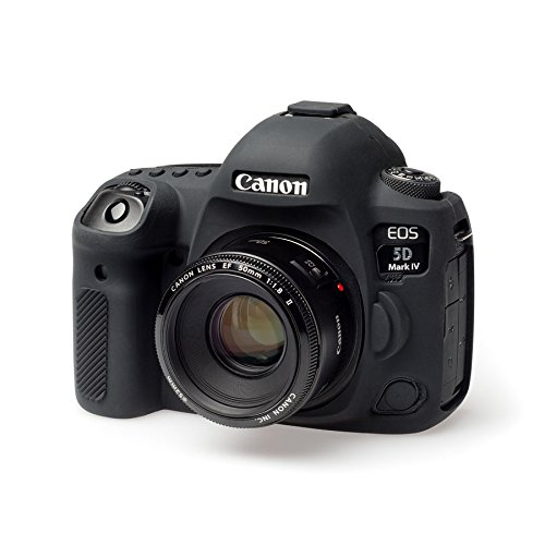 EasyCover Silicone Armour Caso per Canon EOS 5d MKIV. Nero Pelle per 5D4