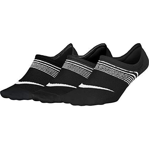 Nike Women's 3PPK Lightweight Training Socks, Black/White, Medium