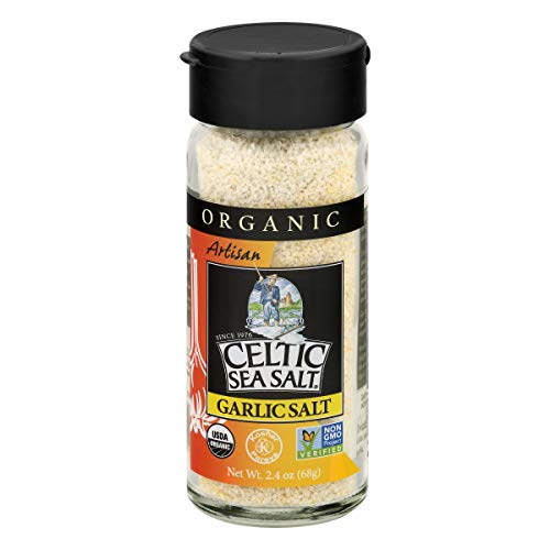 Celtic Sea Salt Organic Garlic Shaker, 2.4 Ounce