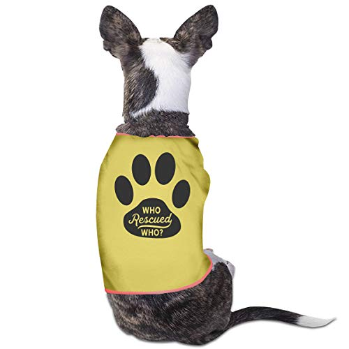 DLOAHJZH-Q Who Rescued Who Dog Adoption Animal Rescue Puppy Vest Tank Tops Dogs Pet Sleeveless Shirt