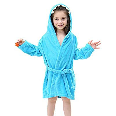 Ankola Kids Bathrobe Toddler/kids Cartoon Dinosaur Hooded Robe Animal Bathrobe Children Pajamas Sleepwear