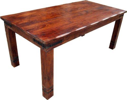 Guru-Shop Eettafel met Ronde Randen Passend bij R509 Donker - Model 1, Bruin, Lengte: 150 cm, Eettafels Keukentafels