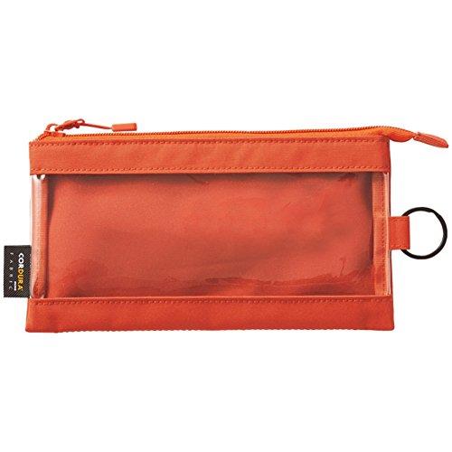 リヒトラブ クリヤーケース ペンサイズ オレンジ F7571-4