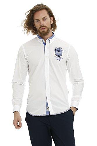GALVANNI Akhiok Camisa Casual, Blanco (White Multi 1022), XXX-Large (Tamaño del Fabricante:3XL) para Hombre