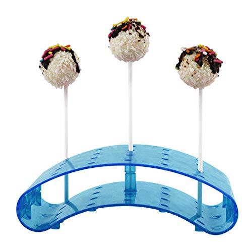 Cake Pop Stand Lollipop Soporte, para hasta 20 Cakepop, pantalla transparente decoración servidor base