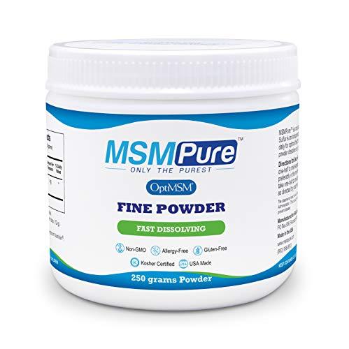 Kala Health MSMPure Fine Powder, 8.8 oz, Fast Dissolving Organic Sulfur Crystals, 99% Pure Distilled MSM Supplement, Made in USA
