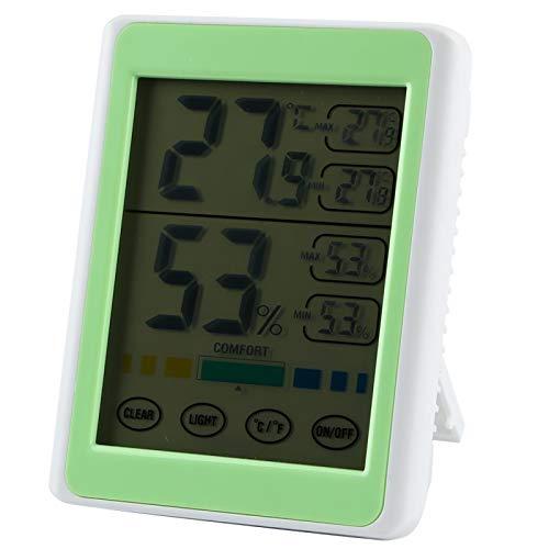 Omabeta Monitor de Temperatura y Humedad Termómetro Digital de Monitor de Temperatura y Humedad para Interiores y Exteriores