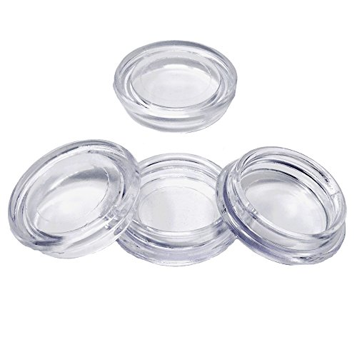 Möbeluntersetzer | 4 Stück | rund Ø 60 mm innen | glasklar | Untersetzer | Möbelgleiter