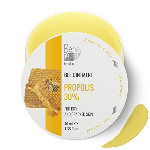 Natürliche Salbe mit 30% Propolis - kaltgepresstes Öl Extrakt, 100% natürlich -gegen Falten und Pickel - rein natürliches Konzentrat - handgefertigt in der EU