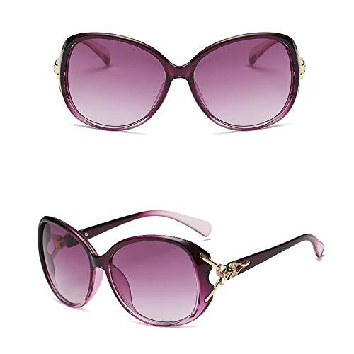Gafas De Sol para Mujer Lente Grande De Marco Ligero Retro De Moda Gafas De Sol Al Aire Libre para Mujer Protección UV400 para Conducir Turismo Ciclismo Pesca,C