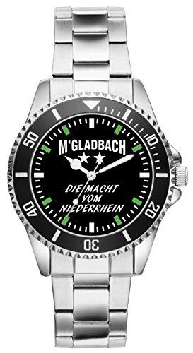 KIESENBERG - Gladbach Mönchengladbach Geschenk Fan Artikel Zubehör Fanartikel Uhr - 6035