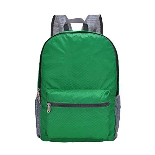 Petay - Mochila plegable para mujer o hombre, para senderismo, deporte, camping, 1 unidad, verde (Verde) - IQCIMWEWEI