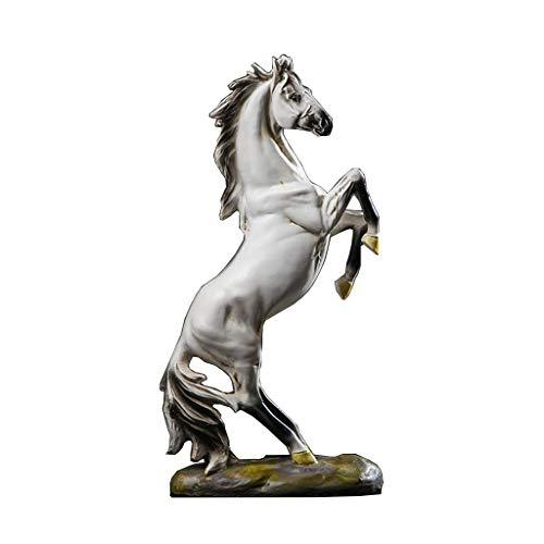 Statue en résine pour cheval, accessoires de maison, armoire à vin ou bureau - Noir