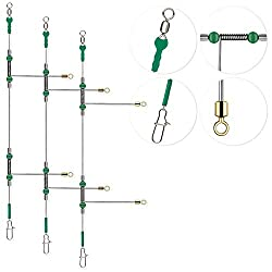 small 12 Rodirs Wire Trace Leader Rig Stainless Steel Double Arm Fishing Tool High Strength Fishing Wire