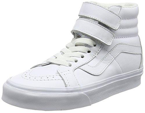 Vans Unisex Adults' SK8-Hi Reissue V Trainers, White(True White(Mono Leather)), 9.5 UK 44 EU