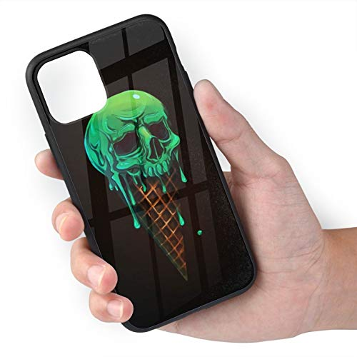 Skull Sweet Cone iPhone 11 Case,Anti-Yellow Slip Resistant Shockproof Cover Compatible with iPhone,Dual Layer Rugged Bumper Case for iPhone 11Pro iPhone 11 Pro