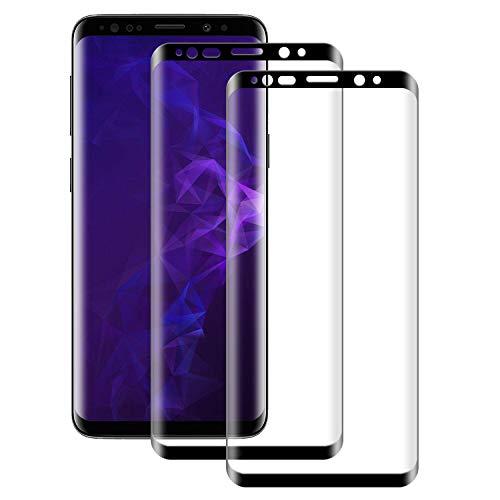NUOCHENG Verre Trempé Samsung Galaxy S9 Vitre HD Film Protection écran,[2 Pièces] Couverture Complète,Anti Rayures,sans Bulles Protecteur d'écran pour Samsung Galaxy S9 9H 0.33mm