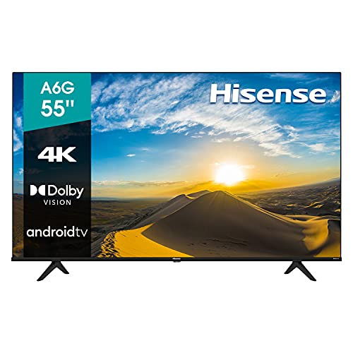 Hisense 55' A6G 4K UHD Android TV con Control de Voz, HDR Dolby Vision (55A6G, 2021)